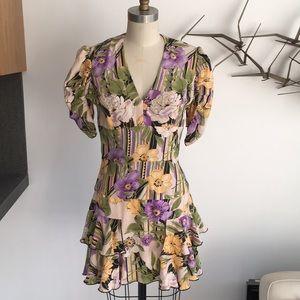 Karen Zambos floral silk Fifi dress